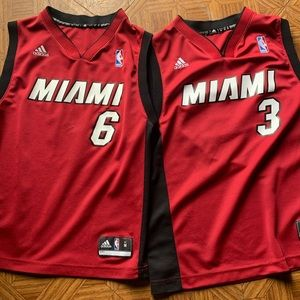 Adidas lebron James And D-wade Miami heat jersey